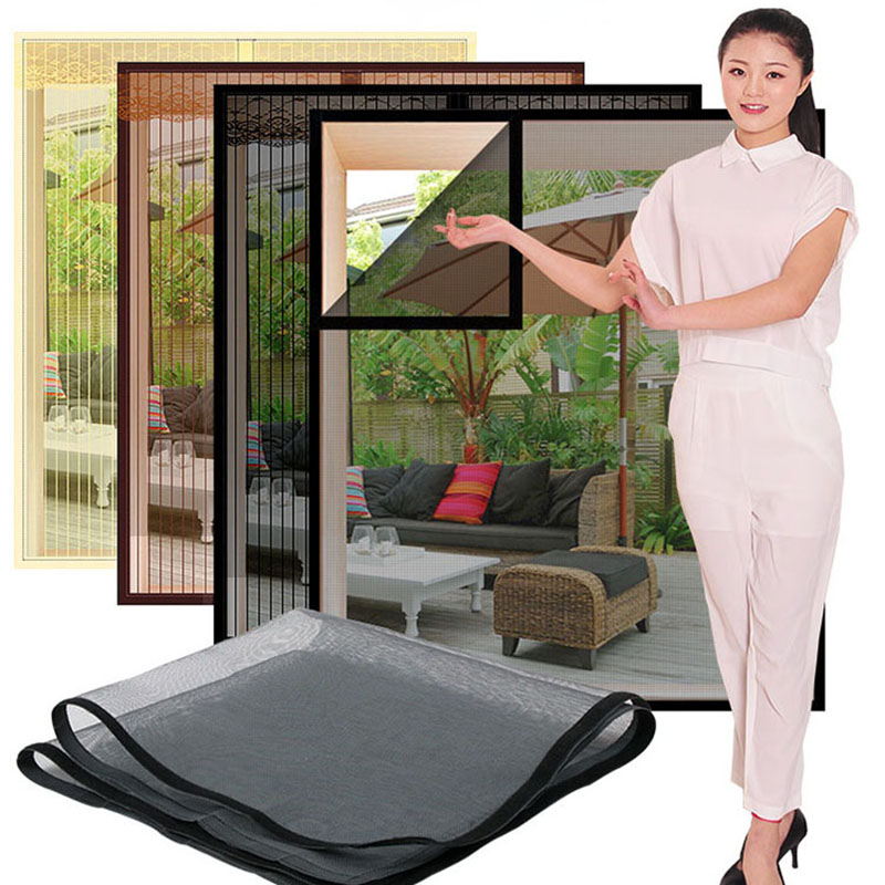 Inset Window Screen Mesh, Air Tulle Adjustable Summer Invisible Anti-Mosquito net Fiberglass Removable Washable Customize Screen 1