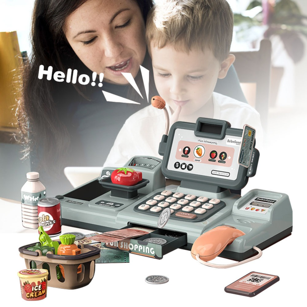 Pretend PlayEducational Cashier Counter Kids Role Play Creative Cash Register Toy Simulated Model Supermarket Pretend Play Toys