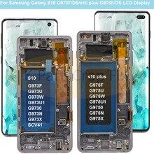 Pantalla LCD AMOLED para Samsung Galaxy S10 2019 SM G9730 G973F, repuesto de digitalizador de pantalla táctil para SAMSUNG S10 Plus G9750