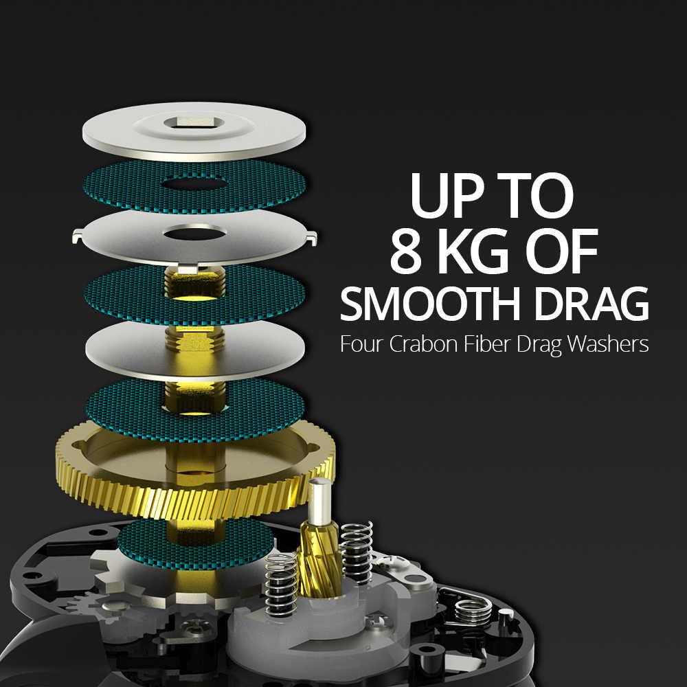 KastKing Crixus 5 + 1/7 + 1BBs Super léger Baitcasting moulinet double système de freinage eau douce Baitcasting moulinet de pêche 8KG glisser