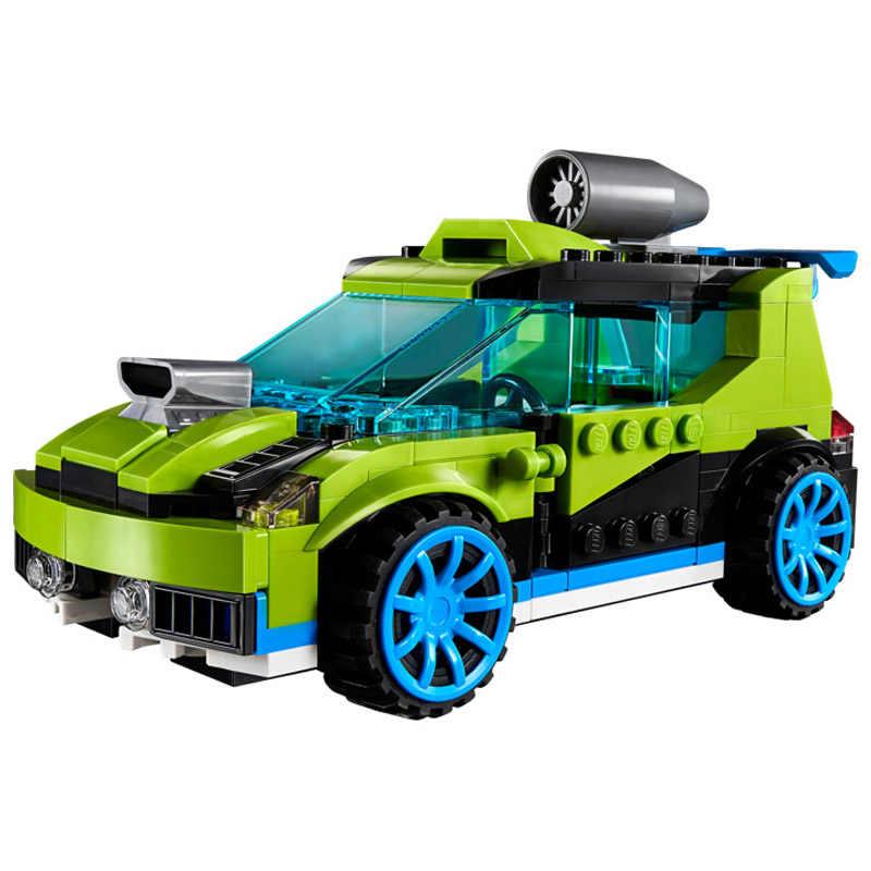 241 pçs o 3-em-1 foguete rally carro modelo menino menina amigos bloco de construção educacional brinquedo diy para crianças presente natal