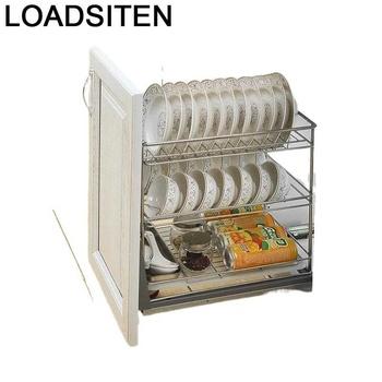 Mutfak spiżarnia Despensa Gabinete Kuchnia organizator i naczynie do przechowywania ociekacz stojak ze stali nierdzewnej Cozinha szafki kuchenne kosz tanie i dobre opinie LOADSITEN CN (pochodzenie) Metal
