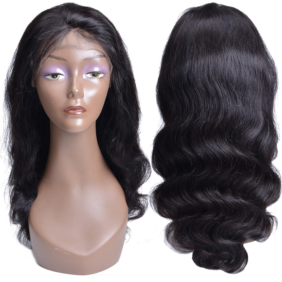 Peruvian Body Wave Lace Front Wig With Baby Hair 10-24Inches Non Remy Hair Wigs For Black Women 13*4 Lace Front Human Hair Wigs