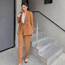 Will spring fashion leisure suits female temperament show thin suit of tall waist wide-legged pants suit