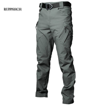Tactical Pants Men Cotton Multi-Pocket Stretch Military Outdoor Casual Pants Men Waterproof and Windproof Cargo Pants