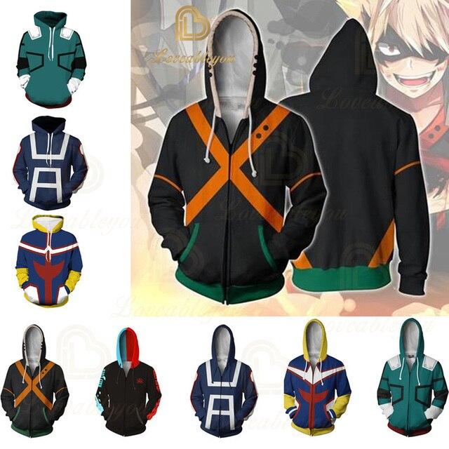 Anime Hoodies Sweatshirts Boku No My Hero Academia Cosplay Costumes Bakugou Todoroki Shoto Spring/Autumn Coat 1