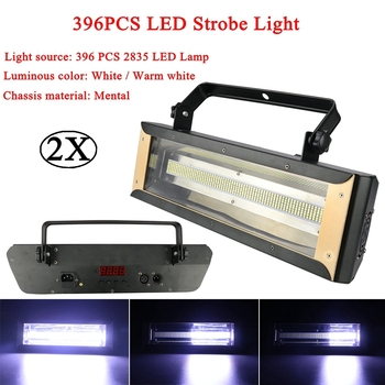 цена на 2Pcs/Lot 200W LED Strobe White/Warm White Stage Flashing Lighting Bar Party Disco DJ KTV Sound Activated Lamp Stage Effect Light