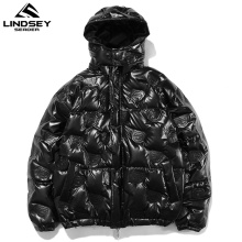 Coat Parka Down-Jacket Padded Windbreaker Hooded Men Clothing Streetwear Lindsey Seader
