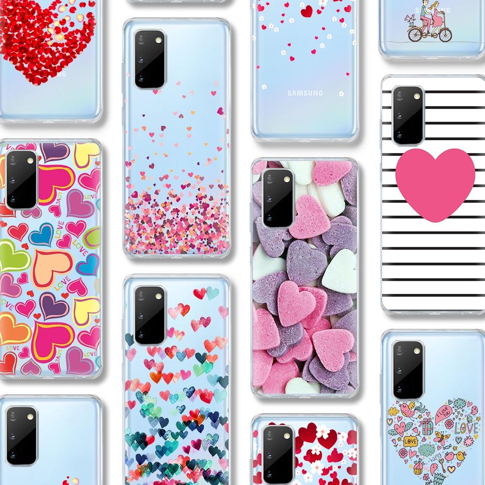 Cute Love Case For Samsung Galaxy A51 A50 S20 S10 A71 A70 A40 S9 S8 A30 A20 S7 S10e Ultra Note 10 9 8 Edge Plus Silicone