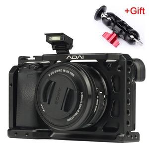 Image 1 - SETTO A6400 Camera Kooi voor Sony Alpha A6400 Camera Functie met 1/4 3/8 Schroefdraad Gaten voor Vlog DIY Video