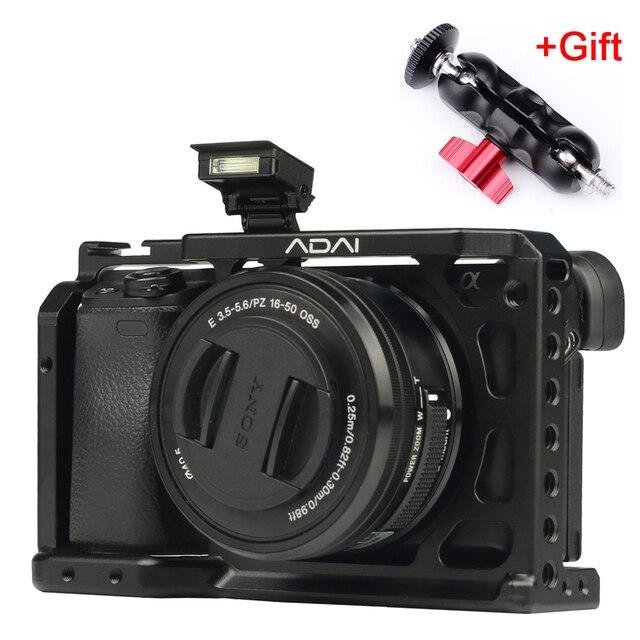 SETTO A6400 Camera Kooi voor Sony Alpha A6400 Camera Functie met 1/4 3/8 Schroefdraad Gaten voor Vlog DIY Video