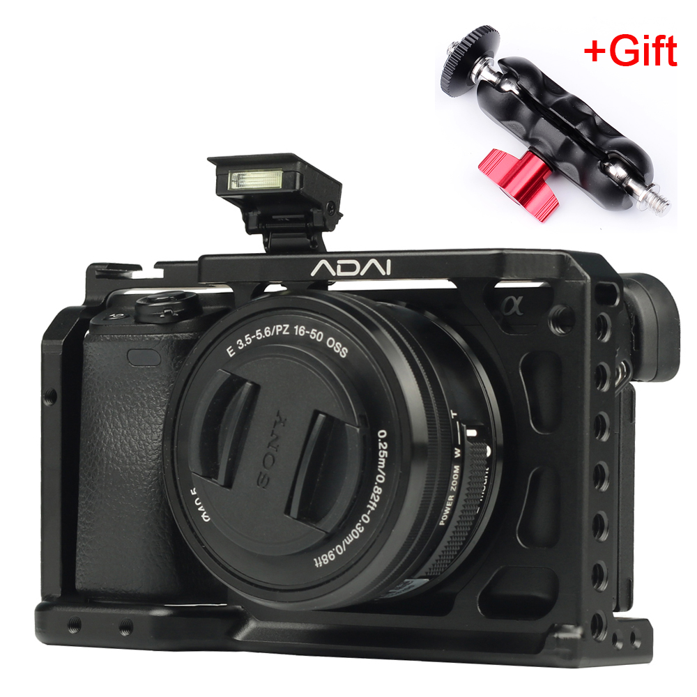 SETTO A6400 Camera Cage for Sony Alpha A6400 Camera Feature with 1/4 3/8 Thread Holes for Vlog DIY Video