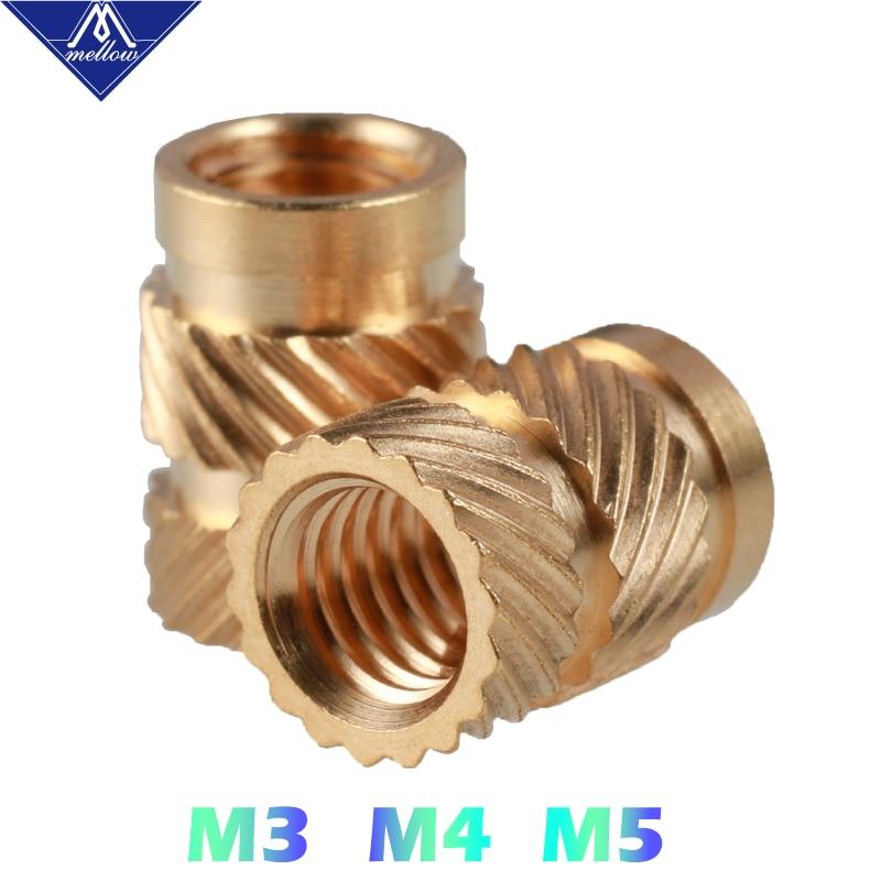 Dimensioni : M2 X D3.2 X L4.0 Nologo Self-tapping Nut Thread Nut Brass Heat Nut Heating Copper Wire Insert Nut