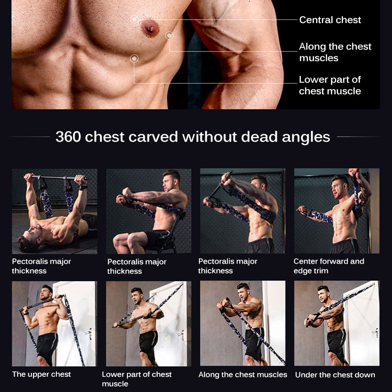 Muscle Bench Press Resistance Band Press Chest Stretcher Chest Expander Bench Press Stretch Training Fitness Equipment