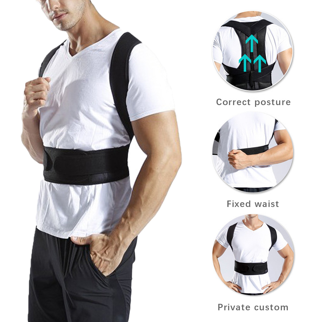 Back Posture Brace Clavicle Support Stop Slouching and Hunching Adjustable Back Trainer Posture Corrector for Men and Women