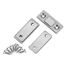 ABSF 2 шт. замок защелки двери ультра тонкий Сильный магнитный замок с винтами для основной мебели шкафа