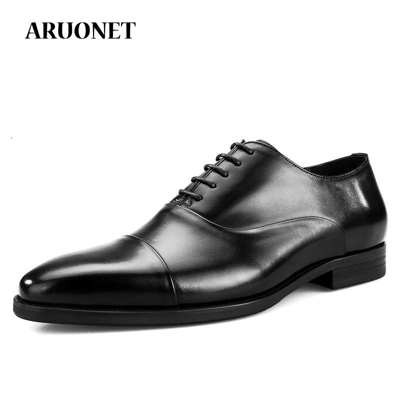 ARUONET Luxury Fashion Men Shoes Massage Men Dress Shoes Light Stylish Formal Shoes For Man Sapato Masculino Couro
