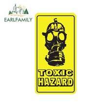 EARLFAMILY 13cm x 6.8cm toksik tehlike gaz maskesi araba Sticker yaratıcı su geçirmez çıkartma kapı duvar dekor vinil araba assessoires