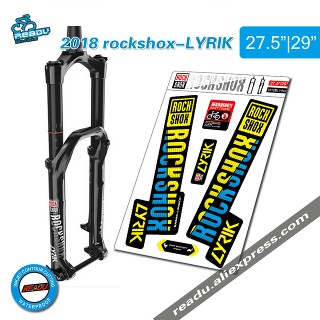 2018 rockshox LYRIK mountain bike front fork stickers bicycle front fork decals Bicycle Accessories