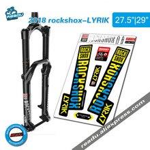2018 rockshox LYRIK mountain bike przedni widelec naklejki widelec rowerowy naklejki akcesoria rowerowe