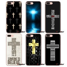 For LG G3 G4 Mini G5 G6 G7 Q6 Q7 Q8 Q9 V10 V20 V30 X Power 2 3 K10 K4 K8 2017 Cross Jesus Quote God desgin Soft Transparent Case(China)