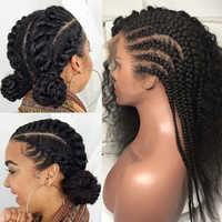 Pelucas de pelo humano de encaje completo sin pegamento rizado Pre desplumado 250 de densidad brasileño de onda profunda pelucas frontales transparentes de encaje EverBeauty Remy