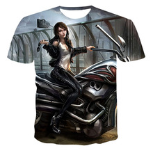 2021 Summer Harajuku New Creative Style 3d T-shirt With Fashionable Short-sleeved Funny Man