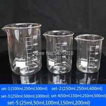 Лабораторный стеклянный стакан контейнер для экспериментов боросиликатное