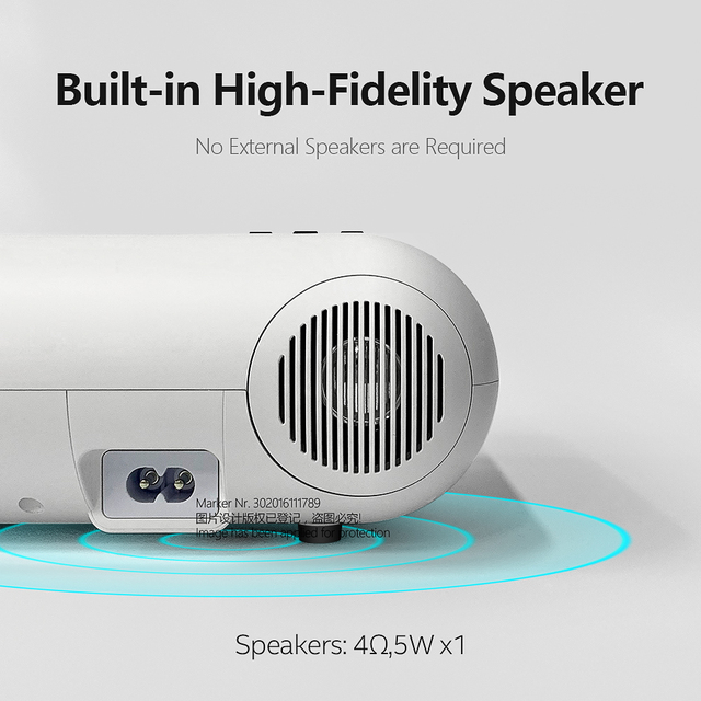 AUN MINI Projector W18, 2800 Lumens, 854x480P, Optional Wireless Sync Display For Phone (W18C), Customize your special Proyector 4