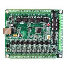 Placa de controle de 5 eixos mach3 usb cnc máquina de gravura cartão de interface de controle (versão npn) fonte de alimentação externa