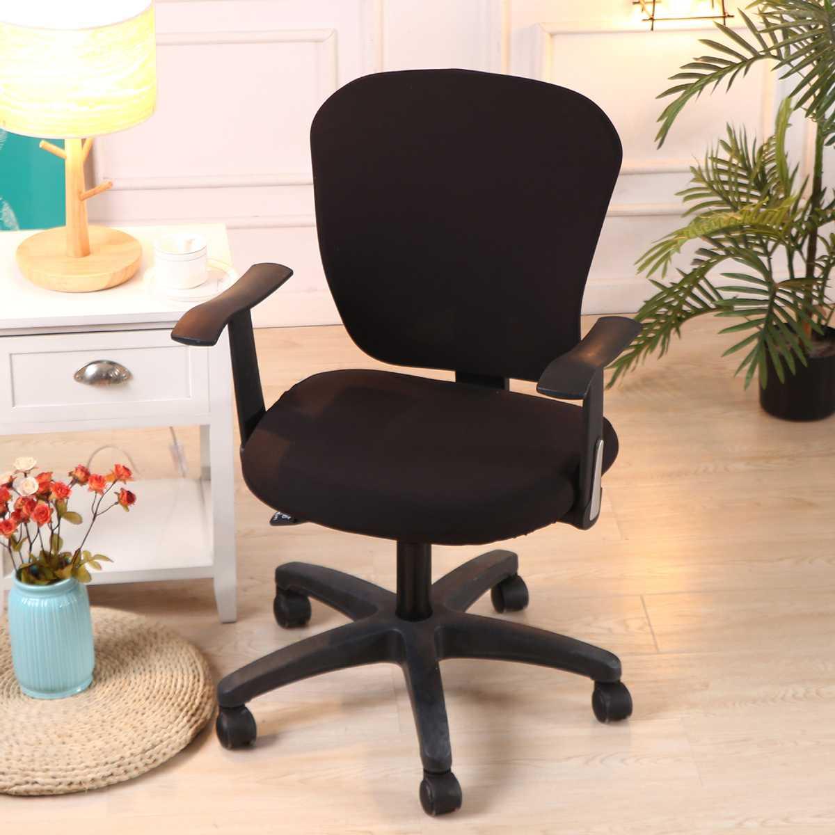 2 шт./компл. Универсальный стрейч спандекс чехлы на стулья анти-грязный компьютерный стул крышка Сменные Чехлы для офисных стульев для сиден...