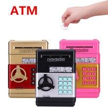 Hucha automática con contraseña ATM para niños, caja fuerte de banco para ahorro de monedas, billetes, regalo de cumpleaños