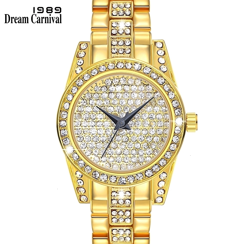 A8316 crystal gold watch
