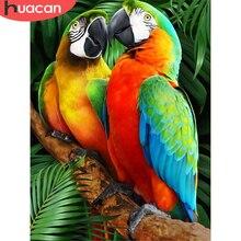 HUACAN 5D DIY Diamond Painting Parrot Full Square Round Animal Bird Cross Stitch Diamond Embroidery Mosaic Handmade Gift