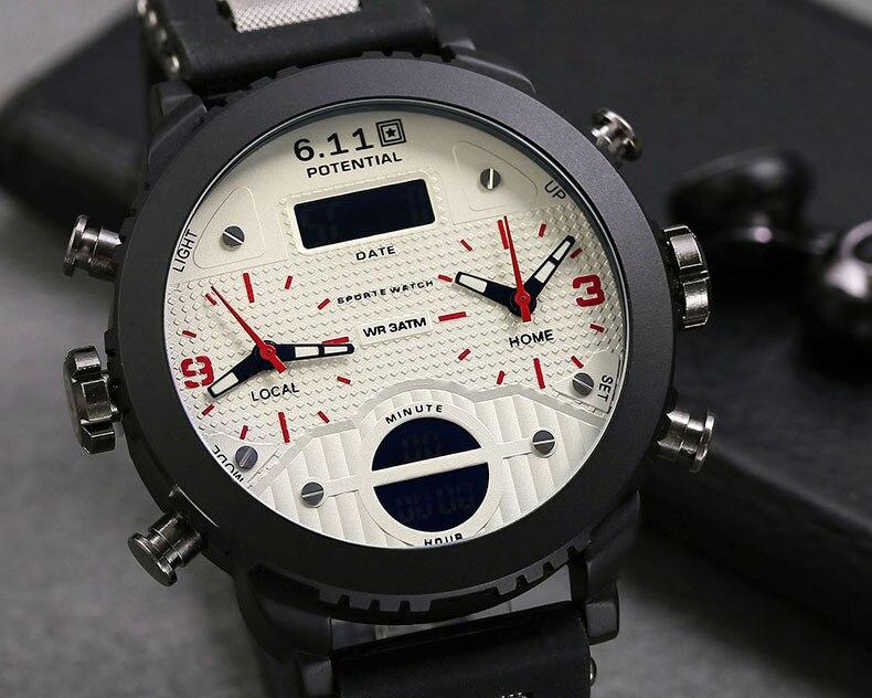 militar dos homens 3 fuso horário relógios