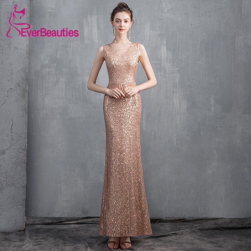 Sequin Abendkleider Robe De soirée 2019 sirène Robe De soirée longue formelle Robe De bal robes De soirée