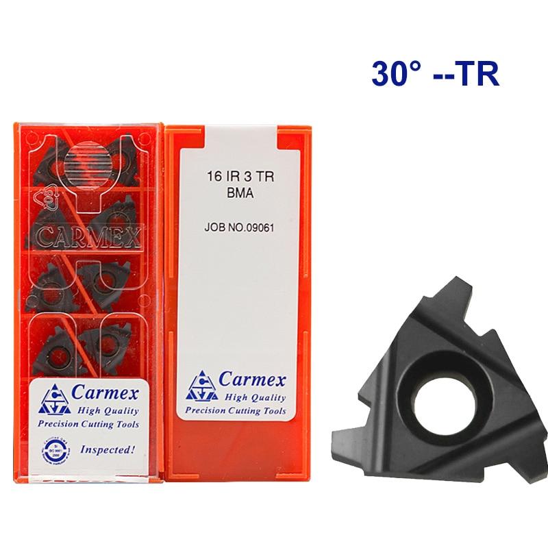 16ER 16IR 1.5TR 2TR 3TR  BMA Carmex CNC Threaded Carbide Inserts Lathe Threading Blade Tool