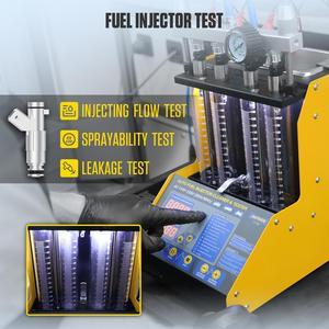 Image 4 - AUTOOL CT150 wtryskiwacz paliwa Tester Cleaner ultradźwiękowy dysza paliwowa benzyna Tester czyszczenie detektor 4 cylindry 110V 220V
