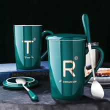 Кружки Кофе чашки с ложкой мужского и женского пола Керамика