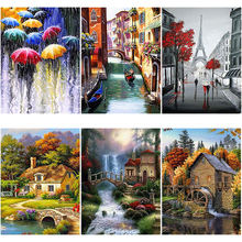 Scenic diy 5d diamond painting full square/round drill resin