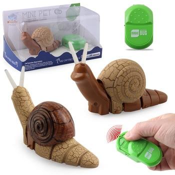 Control remoto infrarrojo extraño nuevo producto Control remoto infrarrojo pequeña lámpara de caracol con luz eléctrica insecto modelo de juguete