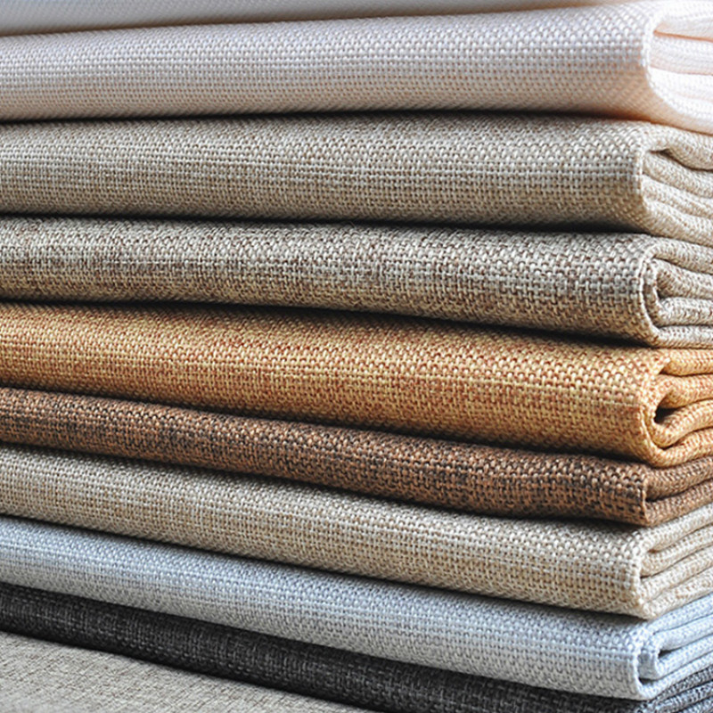 Curtain Sofa Fabric Linen Coarse-Cloth Canvas Upholstery Old Diy 145cm Solid-Color Wholesale