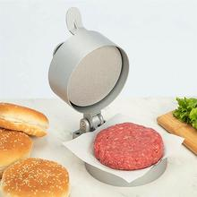 Aluminum Alloy Hamburger Meat Press Tool Burger Maker Beef Makers Mold Burger Press Maker Tool(Silver