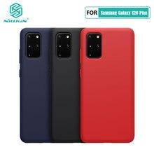 Samsung S20 Ultra durumda NILLKIN sıvı pürüzsüz silikon kılıf Samsung Galaxy S20 + / S20 Ultra 5G kapak koruyucu çanta