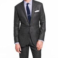 رمادي داكن نايلهيد الرجال الدعاوى مخصص 2020 جديد مصمم الرجال دعوى موضة جديدة خياط صنع بدل زفاف للرجال مع أنماط
