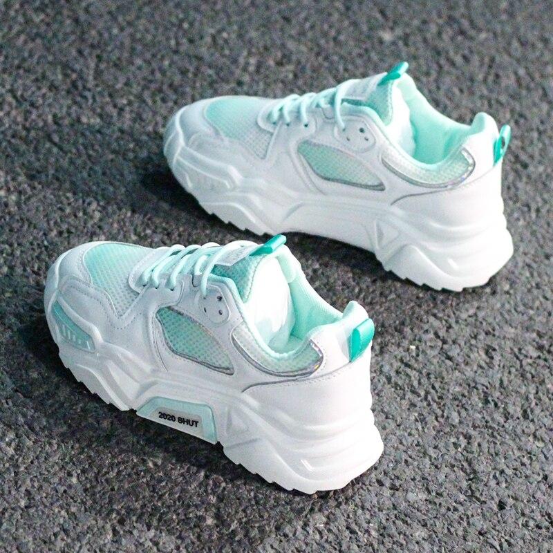 Женская обувь; 2020; Массивные кроссовки; Женская Вулканизированная обувь; Femme; Кроссовки на платформе; Повседневная обувь; Женская брендовая летняя спортивная обувь|Кроссовки и кеды|   | АлиЭкспресс