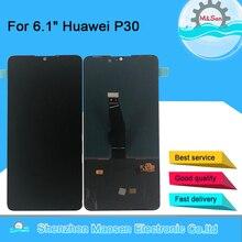 "6.1 ""Original M & Sen สำหรับ Huawei P30 ELE L29 ELE L09 OLED หน้าจอ LCD + Digitizer สัมผัสสำหรับ ELE AL00 ลายนิ้วมือ"