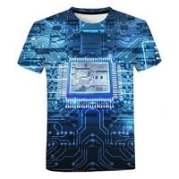 Printplaat Elektronische Chip T-shirt Unisex Zomer Casual Cool Korte Mouw Mannen Vrouwen Harajuku Streetwear Oversized T-shirt