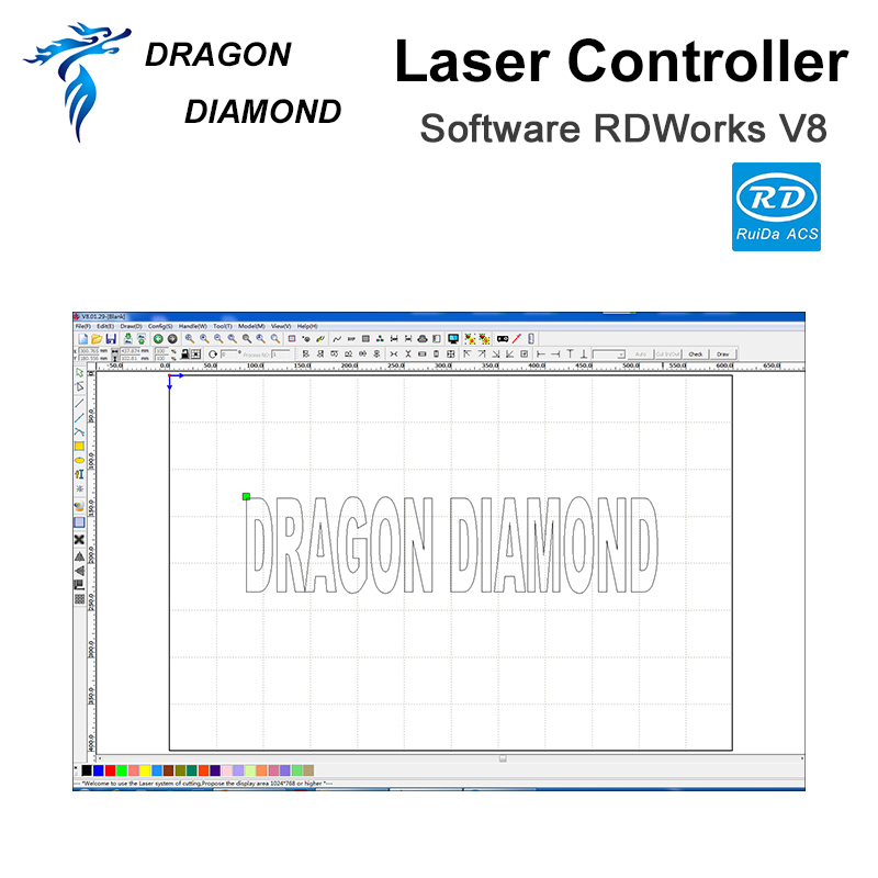 Купить с кэшбэком Ruida RDC6442G CO2 Laser DSP Controller For Laser Engraving and Cutting Machine RDC 6442G/S