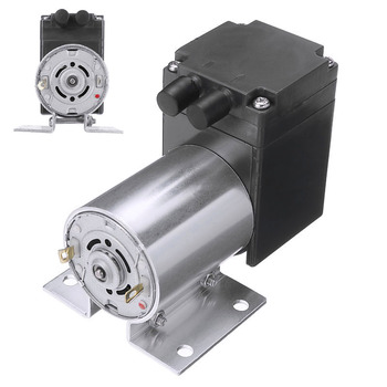 DC 12V 4W Electric Mini Vacuum Air Pump Negative Pressure Suction Diaphragm Vacuum Pumps 5L/min 80kpa with Holder for Seperator dc 12v 6w mini vacuum pump 5l min high pressure suction diaphragm pump with holder for chemical industry